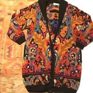 Gorgeous Vintage 1989 Longline Wool Cardigan